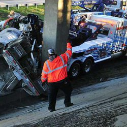 State patrol investigating why tanker wrecked in fatal I-985