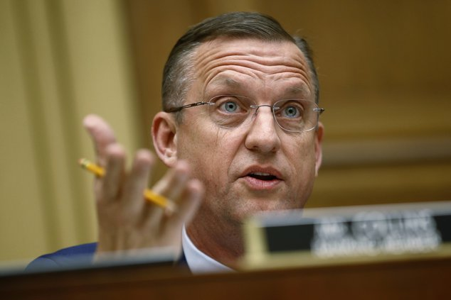 Doug Collins speaks at hearing